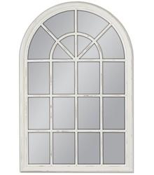 Niespotykane i oryginalne lustro w kształcie okna. Rama lustra wykonana jest z drewna i pokryta białym lakierem (przecieranym). Tafla lustra jest...
