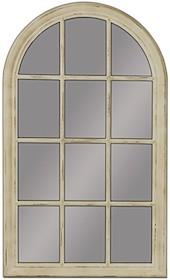 Niespotykane i oryginalne lustro w formie okna. Rama lustra wykonana jest z drewna. Pokryta została kremowym lakierem (przecieranym). Tafla lustra jest...