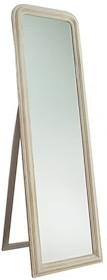 Rama lustra wykonana jest z drewna i pokryta szarym, przecieranym lakierem. Tafla lustra jest kryształowa szlifowana na całym obwodzie. Posiada fazę...