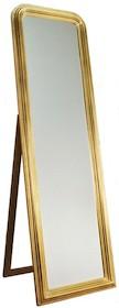 Rama lustra wykonana jest z drewna. Pokryta jest złotym szlagmetalem. Tafla lustra jest kryształowa szlifowana na całym obwodzie. Posiada fazę szerokości...