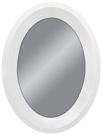 Eleganckie lustro w białej, prostej, owalnej ramie. Rama lustra wykonana jest z drewna i pokryta białym lakierem. Posiada fazę szerokości 15 mm. Można je...