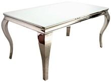 Stół wykonany jest ze stali nierdzewnej. Blat jest z białego, hartowanego szkła.  Wymiary:  - szerokość (cm) 200 - głębokość (cm) 100 -...