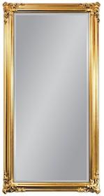 Piękne, potężne lustro w pozłacanej ramie. Rama lustra wykonana jest z drewna i pokryta złotym szlagmetalem. Szlagmetal to cieniutkie listki metalu...