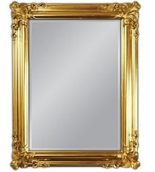 Rama lustra wykonana jest z drewna i pokryta złotym szlagmetalem. Lustro jest dostępne w trzech kolorach: złotym, srebrnym oraz białym. Szlagmetal to...