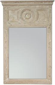 Wyjątkowe i niespotykane lustro w oryginalnej ramie. Rama lustra wykonana jest z drewna i pokryta kremowym lakierem (przecieranym).  Wymiary:  wymiar...