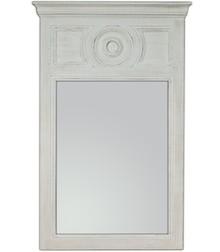 Wyjątkowe i niespotykane lustro w oryginalnej ramie. Rama lustra wykonana jest z drewna i pokryta białym lakierem (przecieranym).  Wymiary:  wymiar...