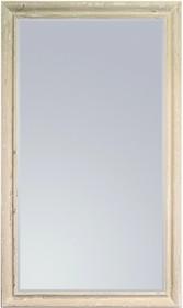 Rama lustra wykonana jest z drewna i pokryta białym, przecieranym lakierem. Tafla lustra jest kryształowa, szlifowana na całym obwodzie. Posiada fazę...