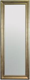 Rama lustra wykonana jest z drewna i pokryta srebrnym, przecieranym szlagmetalem. Szlagmetal to cieniutkie listki metalu ręcznie nakładane i przecierane...