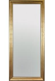 Rama lustra wykonana jest z drewna. Pokryta jest złotym, przecieranym i postarzanym szlagmetalem. Szlagmetal to cieniutkie listki metalu ręcznie nakładane...