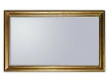 wymiar lustra razem z ramą (cm) 90x150 szerokość ramy (cm) 9 Rama lustra wykonana jest z drewna. Pokryta jest złotym, przecieranym i postarzanym...