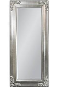 Rama lustra wykonana jest z drewna i pokryta srebrnym szlagmetalem. Szlagmetal to cieniutkie listki metalu ręcznie nakładane i przecierane kamieniem Agatu...