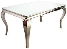 Stół wykonany jest ze stali nierdzewnej. Blat jest z białego, hartowanego szkła.  Wymiary:  - szerokość (cm) 150 - głębokość (cm) 90 -...