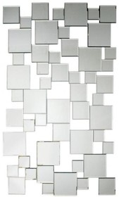 Piękna i nowoczesna dekoracja lustrzana. Tafle lusterek są kryształowe, szlifowane na całym obwodzie. Posiadają fazę. Lustro można wieszać w pionie...