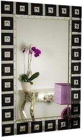 Proste lecz bardzo eleganckie i nowoczesne lustro. Tafle lusterek są kryształowe, szlifowane na całym obwodzie. Posiadają fazę. Lustro można wieszać w...