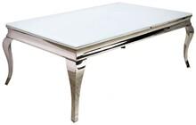 Stół wykonany jest ze stali nierdzewnej. Blat jest z białego, hartowanego szkła.  Wymiary:  - szerokość (cm) 130 - głębokość (cm) 70 -...