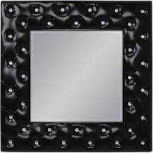 Niespotykane, nowoczesne lustro w pięknie przyozdobionej kryształkami ramie. Rama lustra wykonana jest z masy PU i pokryta czarnym lakierem. Tafla lustra...