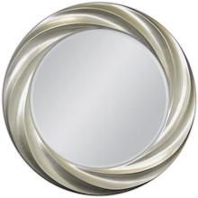 Niebanalne lustro w ciekawej, posrebrzanej ramie. Rama lustra wykonana jest z masy PU i pokryta srebrnym szlagmetalem. Szlagmetal to cieniutkie listki metalu...