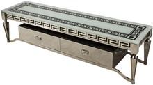 Szafka wykonana jest ze stali nierdzewnej. Blat jest z białego, hartowanego szkła. Posiada dwie szuflady.  Wymiary:  szerokość (cm) 180 głębokość...