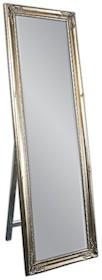Lustro charakteryzuje się piękną, delikatnie zdobioną, postarzaną ramą. Rama lustra wykonana jest z drewna i pokryta srebrnym szlagmetalem. Szlagmetal...