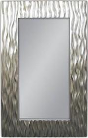 Wyjątkowe lustro w pokaźnej, efektownej, nowoczesnej i niespotykanej ramie. Rama lustra wykonana jest z masy PU i pokryta srebrnym szlagmetalem. Szlagmetal...