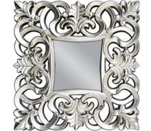 Piękne lustro w bogato rzeźbionej, ażurowej ramie. Barokowy styl sprawdzi się zarówno we wnętrzach klasycznych jak i nowoczesnych. Rama lustra wykonana...