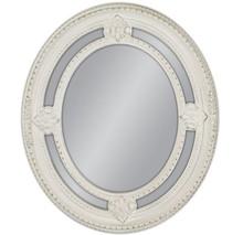 Rama lustra wykonana jest z masy PU i pokryta białym lakierem. Tafla lustra jest kryształowa. Lustro charakteryzuje się pięknie zdobioną, postarzaną,...