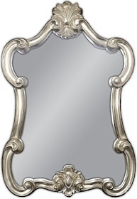 Śliczne lustro w niespotykanej ramie. Rama lustra wykonana jest z masy PU. Pokryta jest srebrnym szlagmetalem. Szlagmetal to cieniutkie listki metalu...