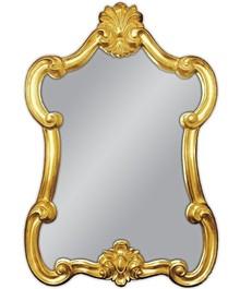 Śliczne lustro w niespotykanej ramie. Rama lustra wykonana jest z masy PU. Pokryta złotym szlagmetalem. Szlagmetal to cieniutkie listki metalu ręcznie...