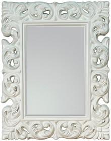 Olśniewające lustro w wyjątkowo zdobionej, białej ramie. Rozjaśni i przykuje uwagę w każdym wnętrzu. Rama lustra wykonana jest z masy PU i pokryta...