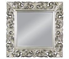 Piękne, klasyczne lustro w kwadratowej ramie. Rama lustra wykonana jest z masy PU i pokryta srebrnym szlagmetalem. Szlagmetal to cieniutkie listki metalu...