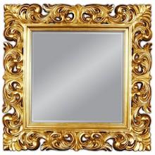 Piękne, klasyczne lustro. Rama lustra wykonana jest z masy PU i pokryta złotym szlagmetalem. Szlagmetal to cieniutkie listki metalu ręcznie nakładane i...