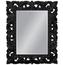 Piękne, bogato zdobione lustro w barokowej, czarnej ramie. Idealnie sprawdzi się w każdym pomieszczeniu, pięknie komponuje się z naszymi komódkami. Rama...