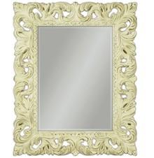 Piękne, bogato zdobione lustro w barokowej, kremowej ramie. Idealnie sprawdzi się w każdym pomieszczeniu, pięknie komponuje się z naszymi komódkami....