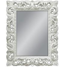 Rama lustra wykonana jest z masy PU pokrytej białym lakierem. Lustro jest dostępne w kolorze złotym (szlagmetal), srebrnym (szlagmetal), białym (lakier)...