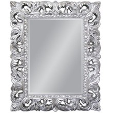 Piękne, bogato zdobione lustro w barokowej ramie. Idealnie sprawdzi się w każdym pomieszczeniu, pięknie komponuje się z naszymi srebrnymi komódkami....