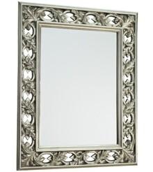 Wytworne i bardzo wystawne lustro kryształowe. Rama lustra wykonana jest z masy PU. Pokryta jest srebrnym szlagmetalem. Tafla lustra jest kryształowa....