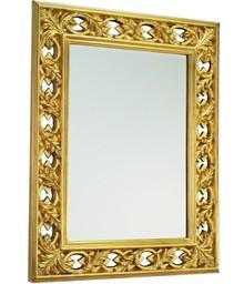 Wytworne i bardzo wystawne lustro kryształowe. Rama lustra wykonana jest z masy PU. Pokryta jest złotym szlagmetalem. Tafla lustra jest kryształowa....