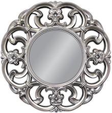 Piękne, bardzo strojne i bogato zdobione lustro w posrebrzanej ramie. Rama lustra wykonana jest z masy PU i pokryta srebrnym szlagmetalem. Lustro jest...
