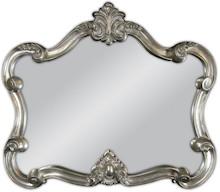 Wyjątkowe lustro w niestandardowej ramie. Rama lustra wykonana jest z masy PU i pokryta srebrnym szlagmetalem. Szlagmetal to cieniutkie listki metalu...