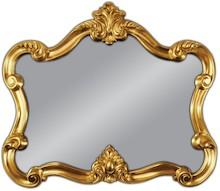 Piękne lustro w wyjątkowo oryginalnej, nieszablonowej ramie. Rama lustra wykonana jest z masy PU i pokryta złotym szlagmetalem. Szlagmetal to cieniutkie...