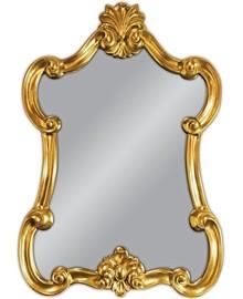 Rama lustra wykonana jest z masy PU i pokryta złotym szlagmetalem. Szlagmetal to cieniutkie listki metalu ręcznie nakładane i przecierane kamieniem Agatu...