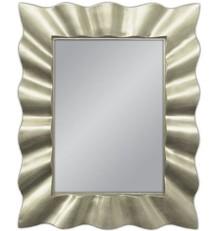 Nowoczesne lustro w niebanalnej, przyciągającej uwagę ramie. Rama lustra wykonana jest z masy PU i pokryta srebrnym szlagmetalem. Szlagmetal to cieniutkie...
