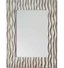 Wyjątkowe lustro w efektownej, nowoczesnej i niespotykanej ramie. Rama lustra wykonana jest z masy PU i pokryta srebrnym szlagmetalem. Szlagmetal to...