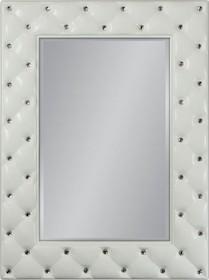 Niespotykane, nowoczesne lustro w pięknie przyozdobionej kryształkami ramie. Rama lustra wykonana jest z masy PU i pokryta białym lakierem. Tafla lustra...
