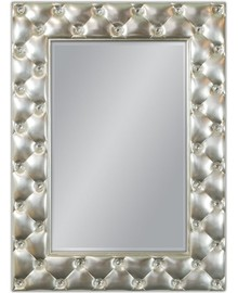 Niespotykane, nowoczesne lustro w pięknie przyozdobionej kryształkami ramie. Rama lustra wykonana jest z masy PU i pokryta srebrnym szlagmetalem. Lustro...