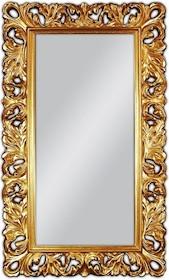 Olśniewające lustro w wyjątkowo zdobionej, pozłacanej ramie. Rozjaśni i przykuje uwagę w każdym wnętrzu. Rama lustra wykonana jest z masy PU i pokryta...
