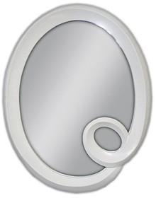 Eleganckie lustro w lakierowanej, owalnej i ciekawej ramie. Rama lustra wykonana jest z masy PU i pokryta białym lakierem. Tafla lustra jest kryształowa. ...