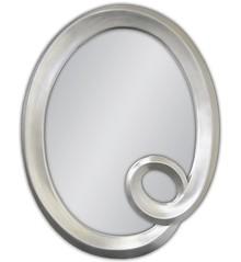 Eleganckie lustro w posrebrzanej, owalnej i ciekawej ramie. Rama lustra wykonana jest z masy PU i pokryta srebrnym szlagmetalem. Szlagmetal to cieniutkie...