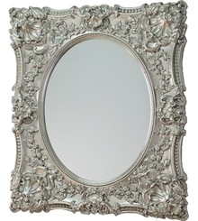 Rama lustra wykonana jest z masy PU. Pokryta jest srebrnym szlagmetalem. Tafla lustra jest kryształowa. Lustro można wieszać w pionie oraz w poziomie. ...