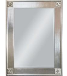 Lustro w prostej, klasycznej i delikatnie przyozdobionej ramie. Rama lustra wykonana jest z drewna i pokryta srebrnym szlagmetalem. Lustro jest dostępne...